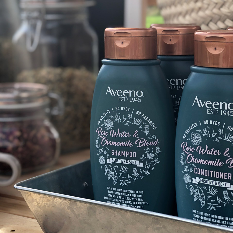 rose water for hair from aveeno
